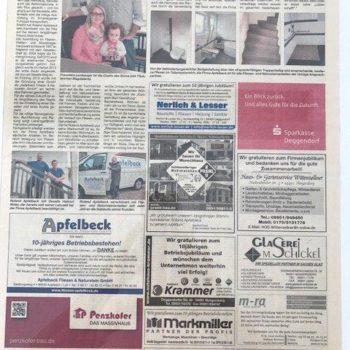 10-jähriges Jubiläum der Firma Apfelbeck