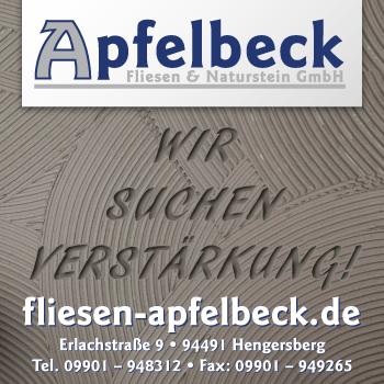 Stellenausschreibung von Apfelbeck Fliesen und Naturstein